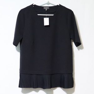 The Limited Collection navy pleated blouse small